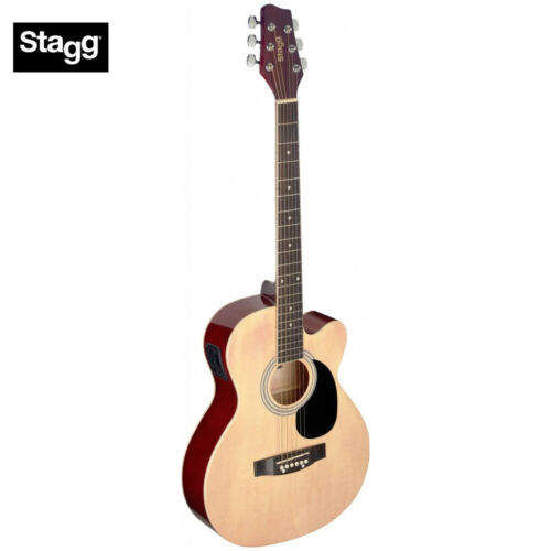Stagg SA20ACE Full Size Cutaway Auditorium Acoustic Electric Guitar Natural