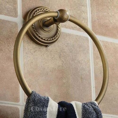Wall Mounted Antique Brass Bathroom Towel Ring Hand Mop Holder Towel Rack C33