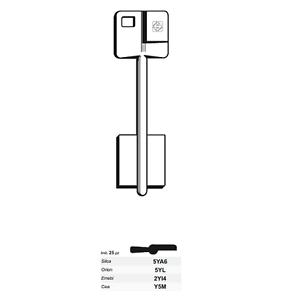 Cle-Brute-Silca-Yale-Double-Carte-Ref-5ya6-Serrure-Securite-1-Piece