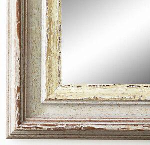 Wandspiegel-Beige-Silber-Trento-Antik-Shabby-5-4-NEU-alle-Groessen