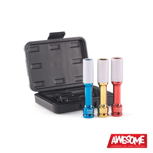 "3 pezzi pps1721lc ECS TUNING Schwaben /""LONG REACH PROTECTA Socket Kit"