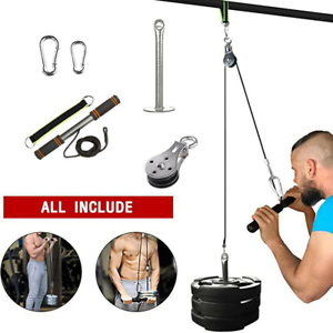 Fitness DIY Pulley Cable Machine Set Biceps Triceps Arm Strength Training