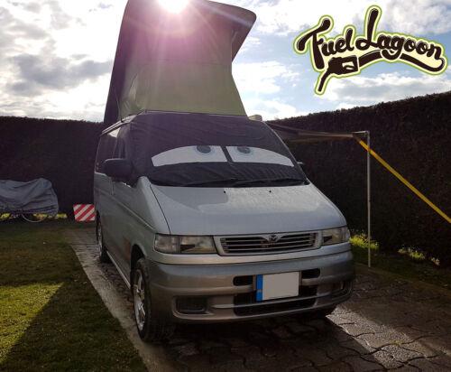 Mazda Bongo Window Screen Cover Wrap Black Blind Camper Van dark Blue Eyes 2nd