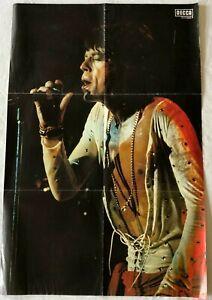Mick-Jagger-Rolling-Stones-Magazine-Original-Vtg-Poster-Danish-90-x-60-cm-Size
