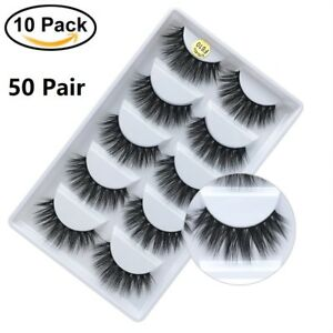 3e50ec2befa Image is loading Wholesale-3D-Mink-False-Eyelashes-Natural-Wispy-Fake-
