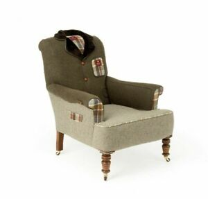 Howard Armchair The Country Tweed Armchair Bespoke Tailor ...