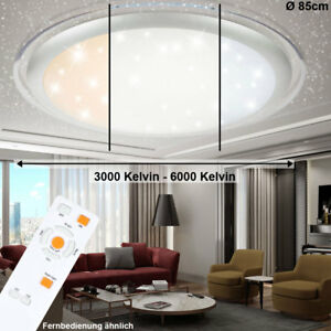 led 100 watt decken leuchte flur fernbedienung sternen himmel lampe dimmer 85 cm ebay. Black Bedroom Furniture Sets. Home Design Ideas