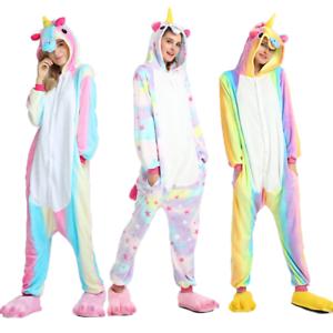 Clothing, Shoes & Accessories Reasonable Adult Kids Unicorn Onesie00 Animal Costume Cosplay Pyjamas Slipper Sleepwear Pj