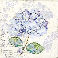 4x Paper Napkins for Decoupage Decopatch Craft Hortensia Purple