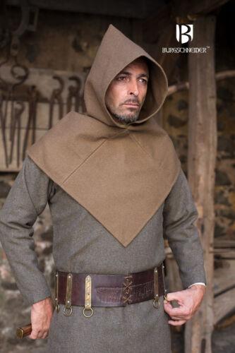 Medieval Gugel Bjorn Wool Hood //Larp Autumn Green Von Burgschneider