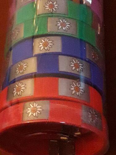 Stoffarmband Oktoberfest * Trachten Armband mit Edelweiss