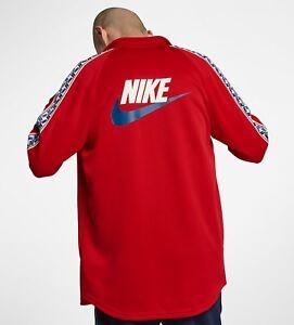 Veste de survêtement Nike Sportswear Taped Poly Rouge