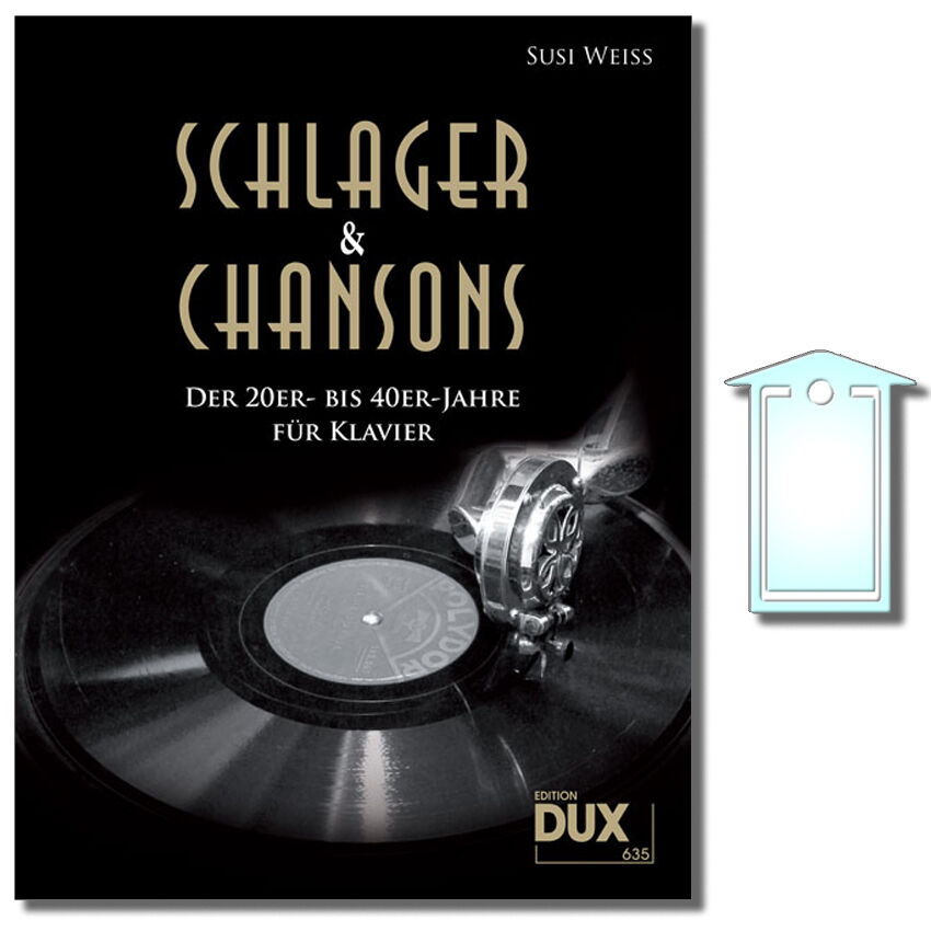 bis 40er-Jahre mit NotenKlammer DUX635 Schlager /& Chansons der 20er DUX635CD