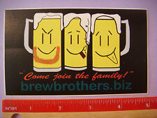 Beer STICKER: BREW BROTHERS Homebrew Products & Online Store ~ Hillsboro, OREGON