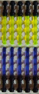 10-Lego-Laserschwerter-schwarzer-Griff-in-gelb-lila-fuer-Star-Wars-Minifiguren