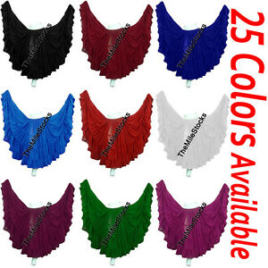 TMS 25 Yard 4 Tier Skirt Belly Dance Gypsy Costume Troup Tribal Club25 Colors