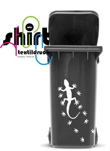 A 1495 Eidechse Echse Gekko Aufkleber  für Mülltonne Mülleimer Mülltonnen