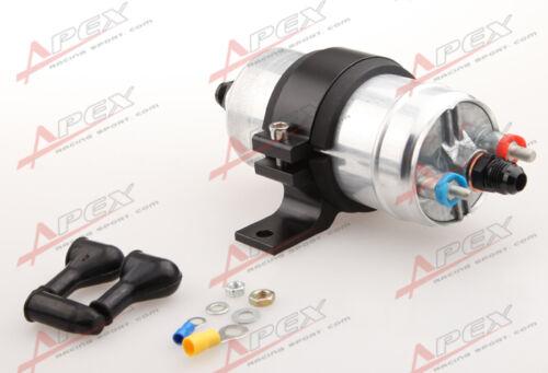 External Fuel Pump 044 For Bosch+Billet Bracket Black+6AN Inlet 6AN Outlet Black
