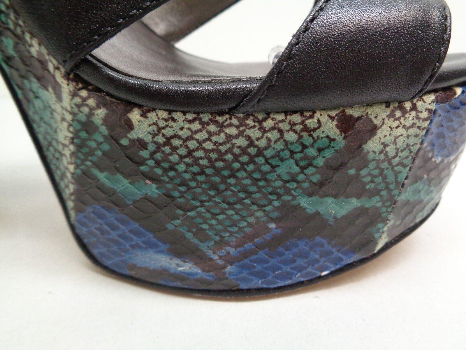 Pelle Pelle Pelle Moda Size 7.5 M TRUMAN Black Leather Platform Sandals New Womens shoes 2100a0