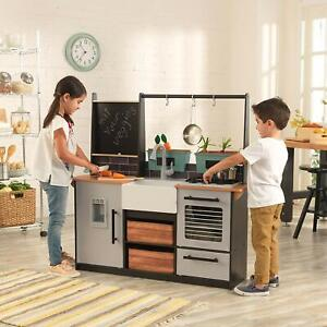 KidKraft Farm to Table Chef Pretend Play Kitchen Playset with EZ Kraft Assembly