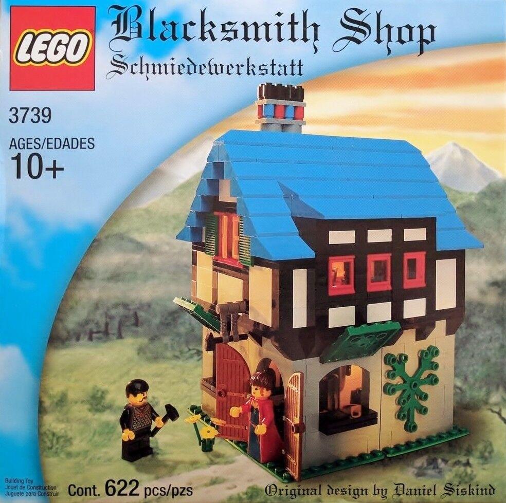 Lego Castillo - Raro Clásico - Herrero Tienda 3739 - Complete W Caja