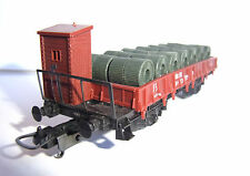 Lima H0-Güterwagen+Ladung Serie P FS Italien-TOP- freight car with load FS Italy