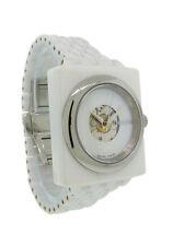Nixon A138 100 Debutant Women's Automatic Cushion White Ceramic Date Watch