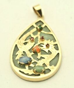 Jade-14k-Gold-Pear-Shaped-Dragon-Charm-with-other-Gems-4-2-grams