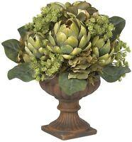 Nearly Natural 4635 Artichoke Centerpiece Silk Flower Arrangement- Green