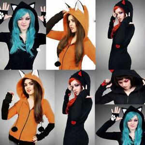 Fox-Women-Hoodie-Long-Sleeve-Coat-Cute-Animal-Sweatshirt-Halloween-Cosplay