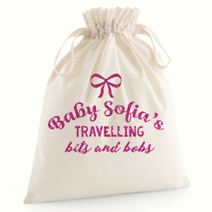 Personalised Babies Travelling Bits Baby Shower Gifts Baby Nappy Bag Girl Gifts