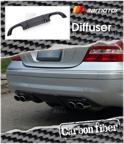 Carbon Fiber Rear Diffuser Quad 4pp for Mercedes W203 C-Class C55 C32 AMG Bumper