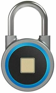 Fingerprint Padlock Keyless Stainless Steel Smart Bluetooth School & Gym Lock