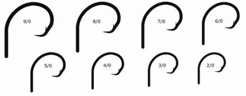 25 Mustad 39941 Ultra Point Size 2//0 2X Strong Demon Circle Hooks 39941NPBN-20