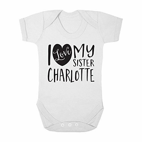 Personalised ANY NAME I Love my Sister Cute Boy Girl Baby Grow Vest Bodysuit