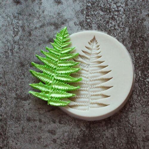 Bakeware Cake Decorating Chocolate Sugarcraft Fern Leaf Silicone Mold Fondant