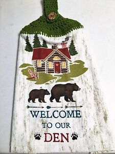 WELCOME TO OUR DEN BEARS CABIN KAY DEE DESIGNS Crochet Top