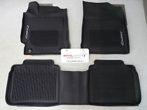 toyota camry 2015 2016 factory all weather rubber floor mat liners genuine oem. Black Bedroom Furniture Sets. Home Design Ideas