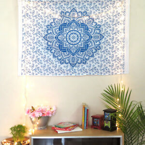 Indian Wall Art Lotus Flower Mandala Wall Poster Hippie Wall Decor