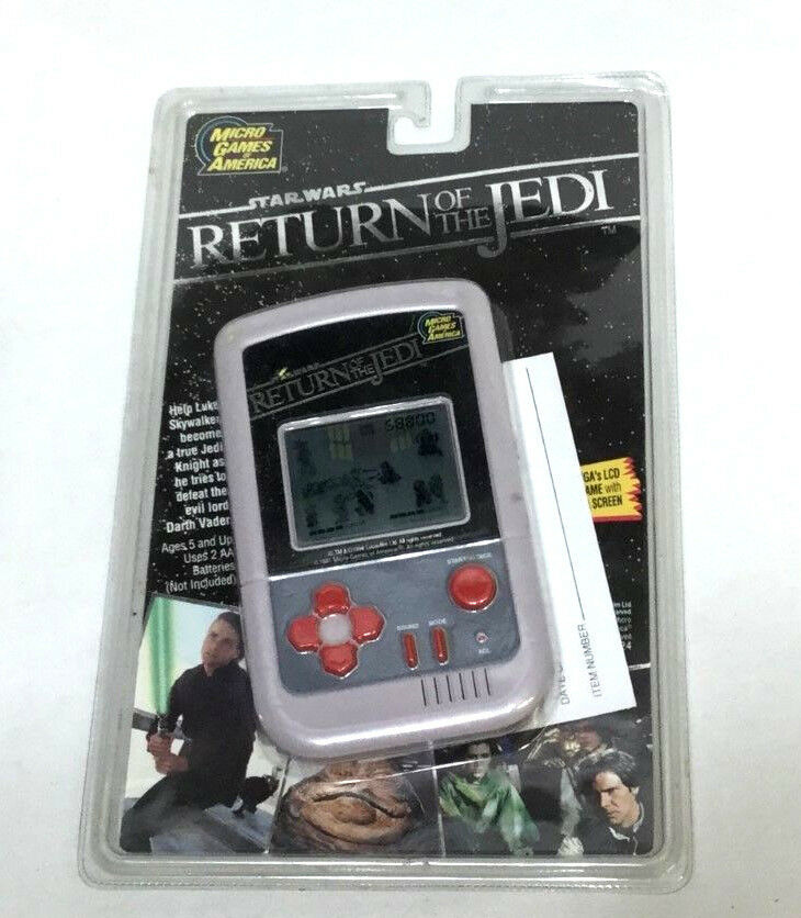 RARE Vintage 1991 Star Wars redJ Return Of The Jedi Hand-Held Micro Game Sealed