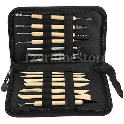 New 14 Pcs Pottery Polymer Clay Sculpting Tool Set In Zippered Case Pottery Tool