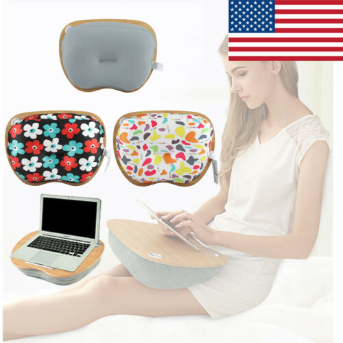 Laptop Tray Portable Holder Serving Pillow Lap Desk Cushioned Support Bed Table