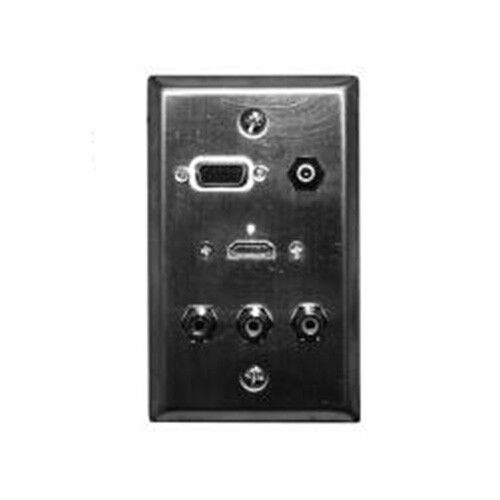 Philmore 75-1090 Stainless Steel Wall Plate HDMI 3.5mm Stereo VGA RCA NEW!!!