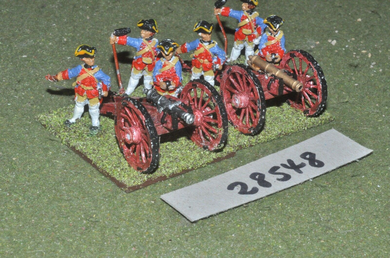 25mm 7YW   prussian - 2 guns & crews - art (28548)