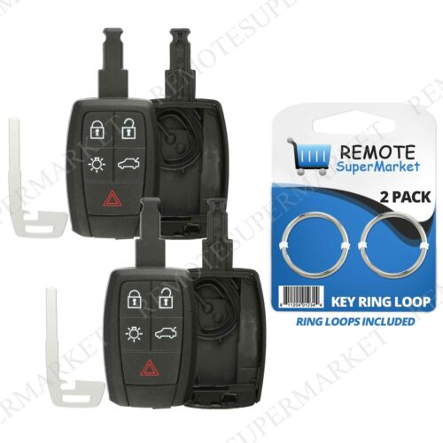 2 Shell Case For 2004 2005 2006 2007 2008 2009 2010 2011 2012 Volvo S40 Remote