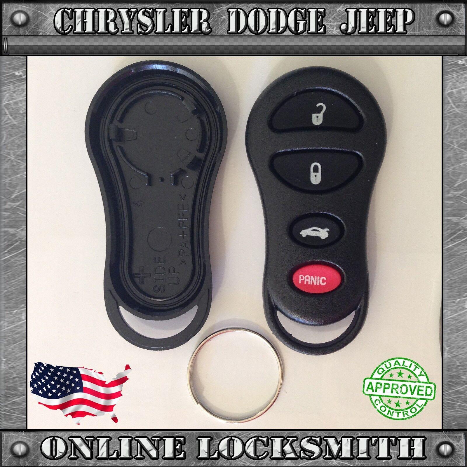 Car Fob Remote Shell Case Pad For 2001 2002 2003 2004 2005 Chrysler PT Cruiser