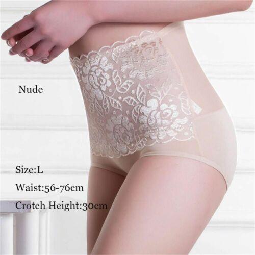 Women Sleepwear Briefs Cotton Underpants Lace Knickers High Waist Panties