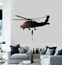 Vinyl Wall Decal Soldiery Helicopter Military War Stickers Mural g219