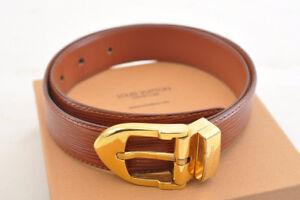 Louis-vuitton-epi-ceinture-Clasico-cinturon-marron-85-34-LV-Auth-1818