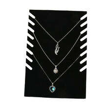 Chain Necklace Pendant Display Stand Rack Organizer Hold 8pcs Chains Black